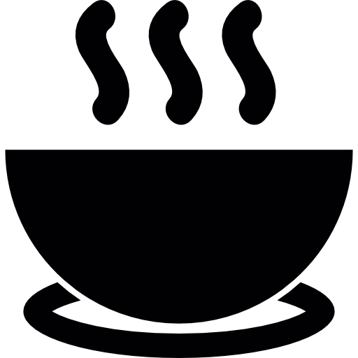 Bowl Of Hot Soup On A Plate Icons Free Download