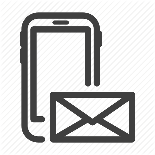 Letter, Line, Mail, Message, Phone Icon