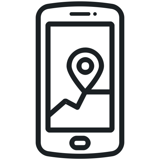 Phone Icon, Gps, Location, Map, Application, Navigation