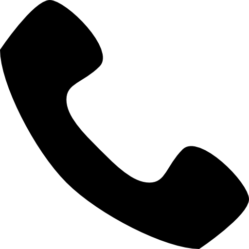 Phone Black Auricular Shape Icons Free Download