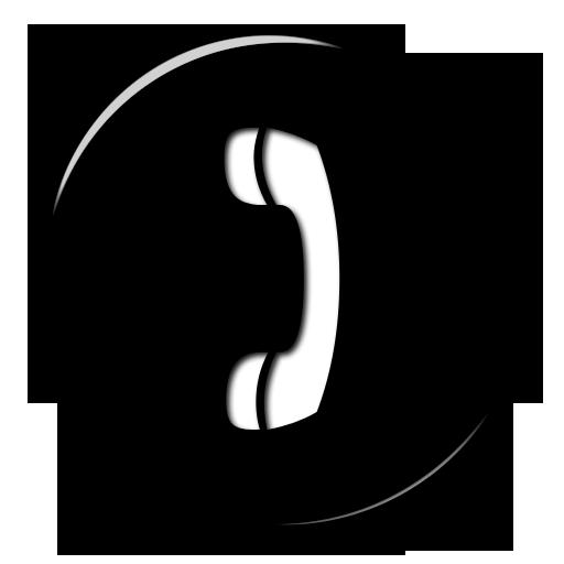 Round Black Phone Logo Png Images