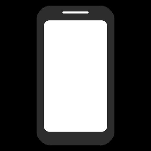Black And White Smartphone Icon