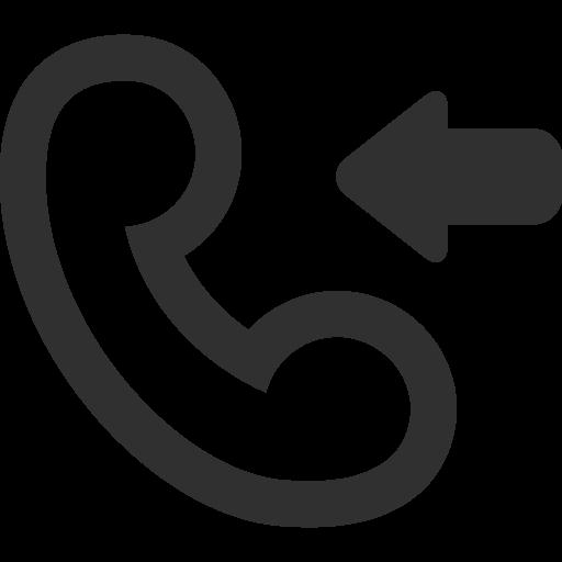 Call Incoming Icon Mono General Iconset Custom Icon Design