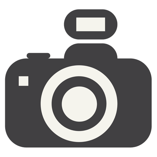 Flat Camera Icon With Flash