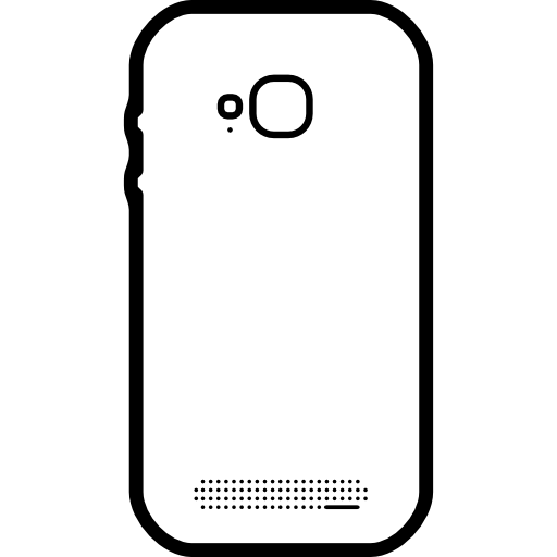 Mobile Phone Back View With Photo Camera Icons Free Download