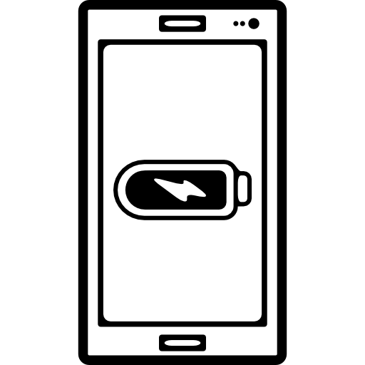 Full Battery Status Symbol On Mobile Phone Screen Icons Free