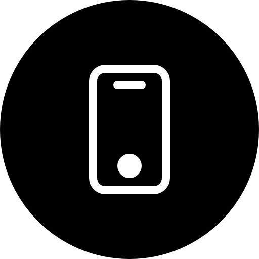 Phone Black Circular Interface Button