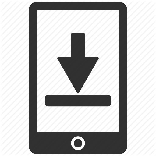 Arrow, Download, Mobile, Phone Icon