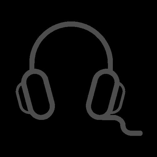 Head Phone Line Icon, Headphone, Headphone Icon Icon