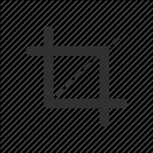 Adobe Tools, Crop Tool, Lines, Photoshop, Square Icon