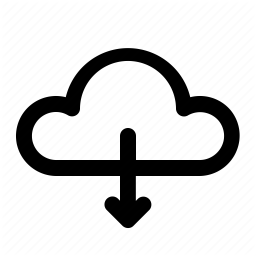 Cloud, Download, Pick Icon