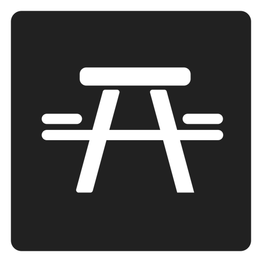 Picnic Table And Chair Square Icon