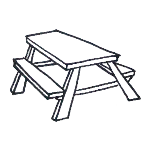 Cropped Picnic Table Icon