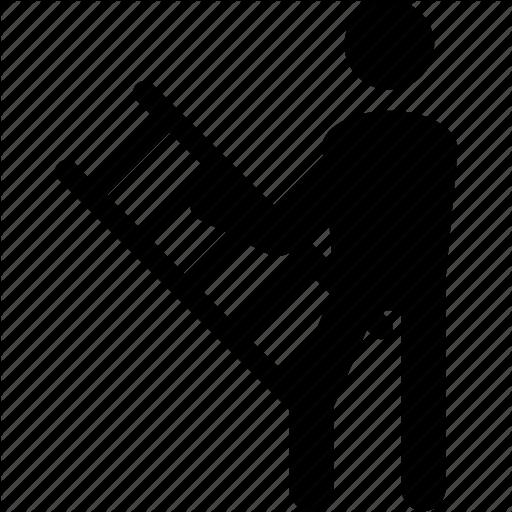 Human, Ladder, Man, Person, Pictogram Icon