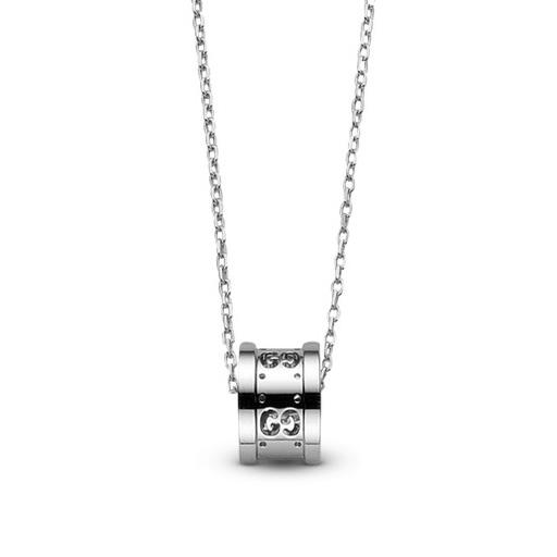 Gucci Icon Twirl Ct White Gold Pendant Necklace Hugh Rice