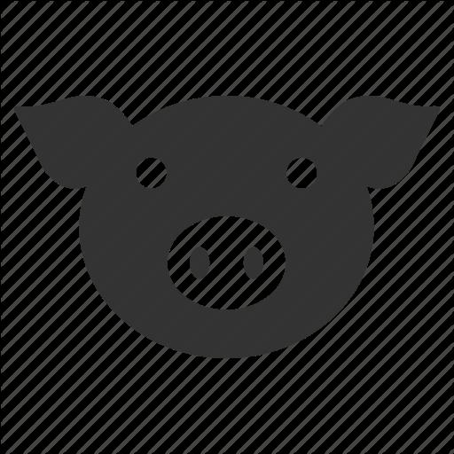 Hog, Pig Head, Piggy, Pork, Snout, Sow, Swine Icon