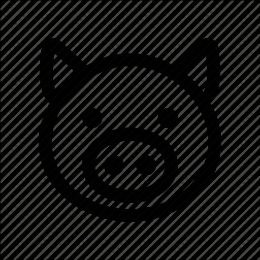 Animal, Pig, Pork Icon