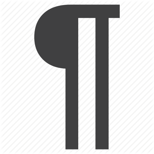 Graphic, Paragraph, Pilcrow, Sign Icon