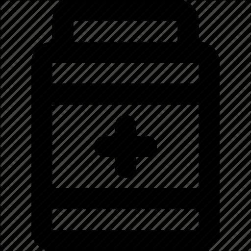 Hospital, Medical, Medicine, Outline, Pill, Pill Bottle Icon