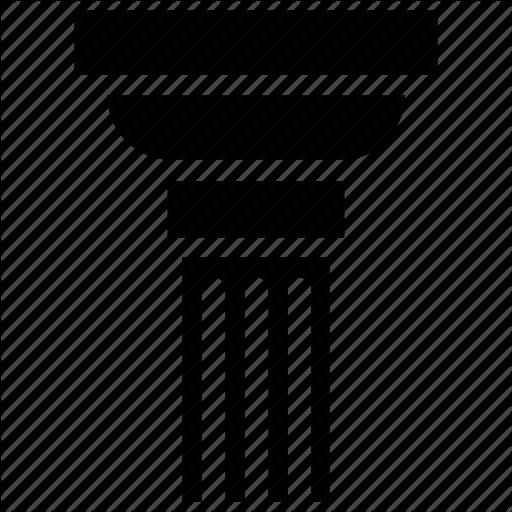 Architecture, Column, Foundation, Pillar Icon