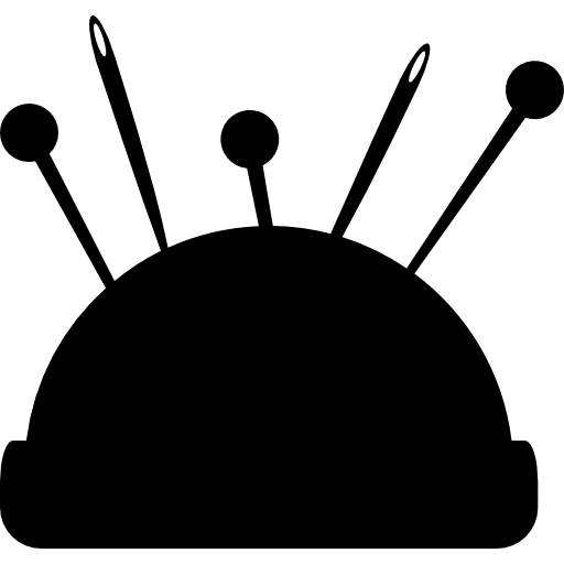 Pin Cushion With Several Pins Icons Free Download