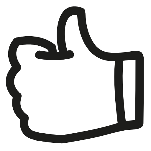 Like Thumb Up Hand Drawn Symbol Outline Free Vector Icons Designed