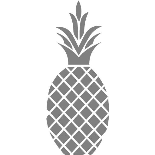 Gray Pineapple Icon