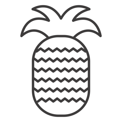Pineapple Fruit Stroke Icon