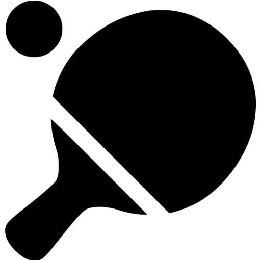 Black Ping Pong Icon