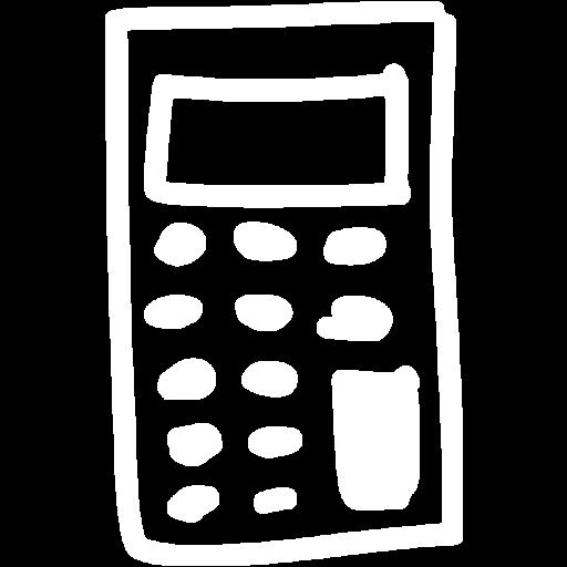 White Calculator Icon