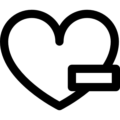 Minus Heart Icons Free Download