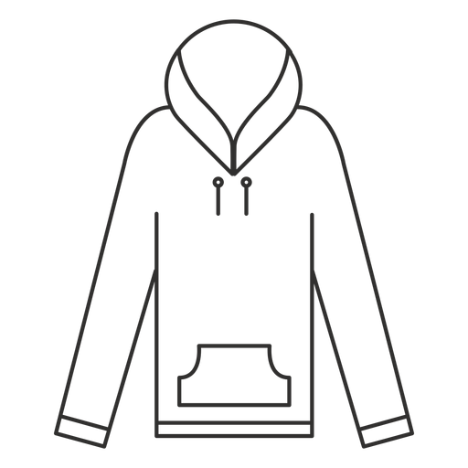Long Sleeve Hoodie Stroke Icon