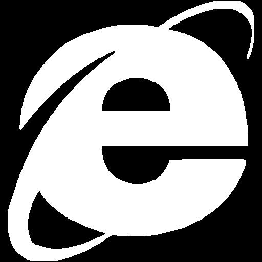 White Internet Explorer Icon