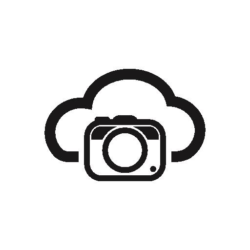 Photo Camera On Internet Cloud Symbol Free Vector Icons Designed