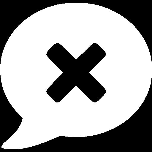 White Delete Message Icon