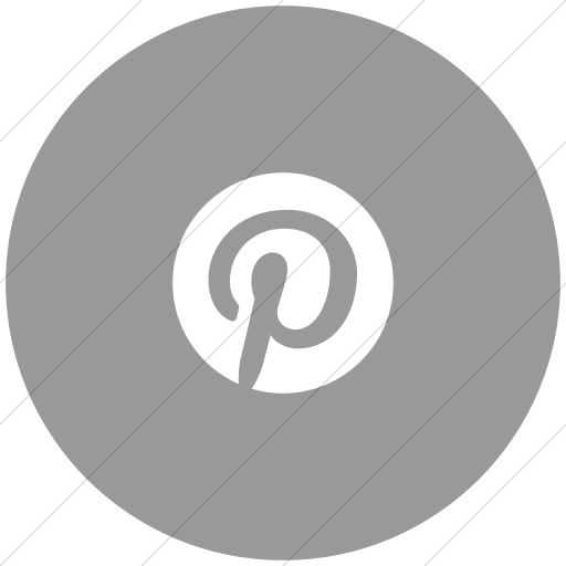 Flat Circle White On Light Gray Foundation Social