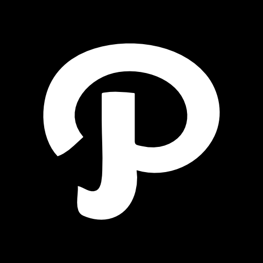 White Logo Inside A Black Square