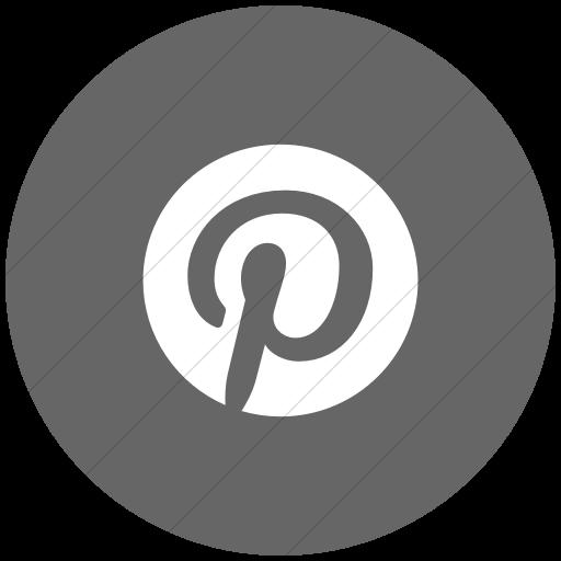 Flat Circle White On Gray Social Media Icon