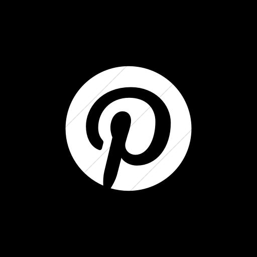 Flat Square White On Black Social Media Icon
