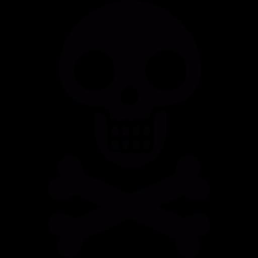 Skull, Bones, Flag, Pirate Icon