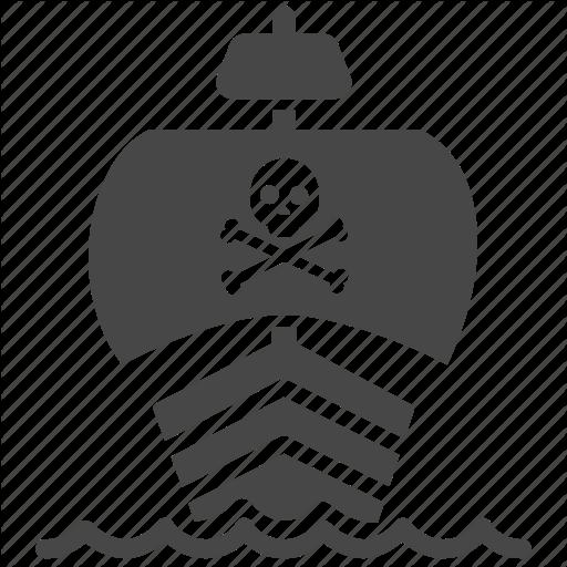 Marine, Nautical, Pirate, Ship, Skull, Vessel Icon