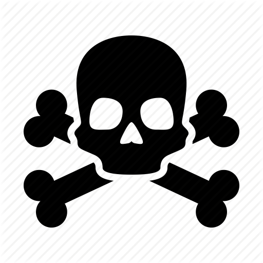Caution, Danger, Death, Pirate, Poison, Skull, Warning Icon