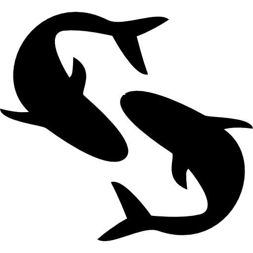 Pisces Astrological Sign Symbol Of Two Fishes Icons Free Download