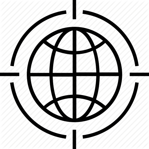 Focus, Global Tracker, Globe, Grid, Tracker Icon