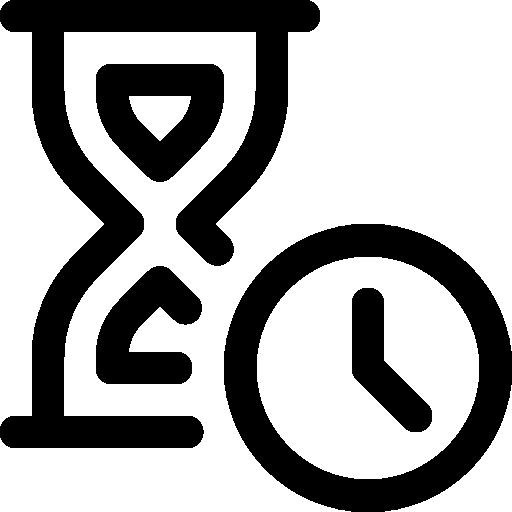 Sand Clock Icon Pixel