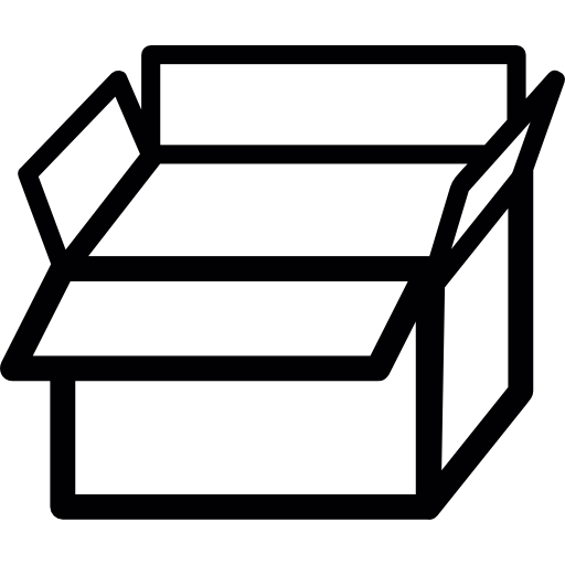 Open Cardboard Box Icons Free Download