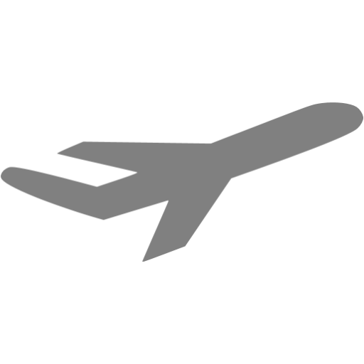 Gray Airplane Icon