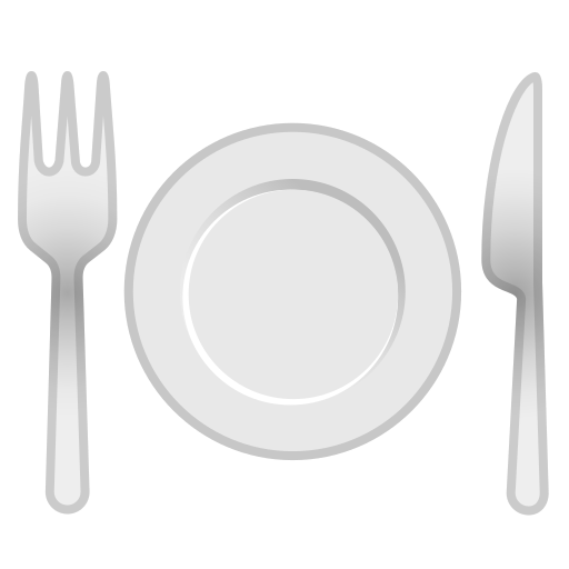 Fork, And, Knife, With, Plate Icon Free Of Noto Emoji Food Drink Icons