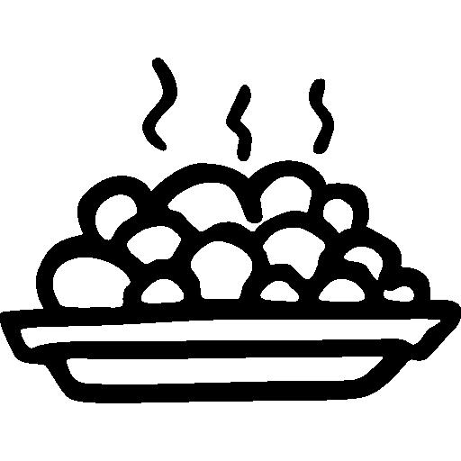 Hot Peas Full Plate Hand Drawn Food