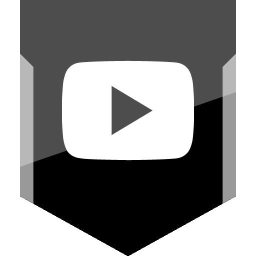 Youtube Play Free Silver Shield Social Media Icon